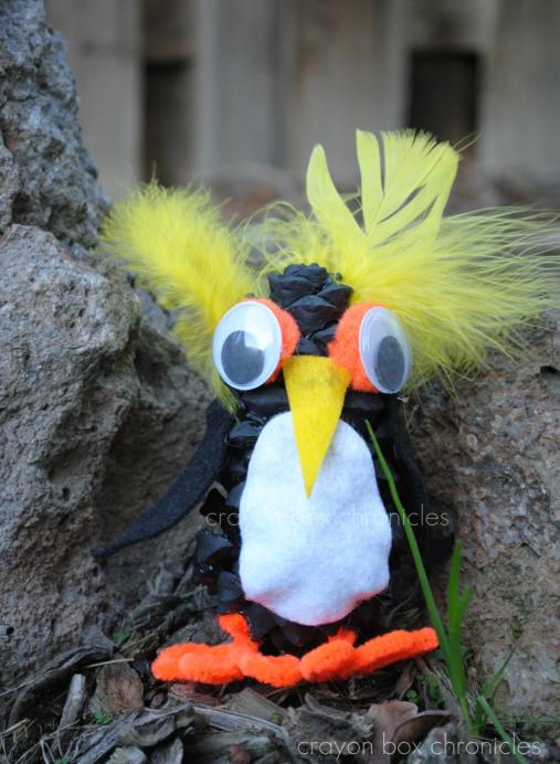 pine cone penguin craft