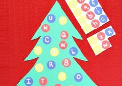 Alphabet Matching Christmas Tree
