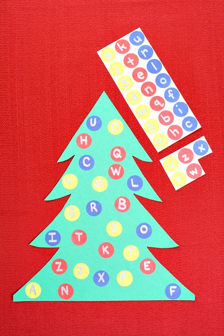 Alphabet Matching Christmas Tree