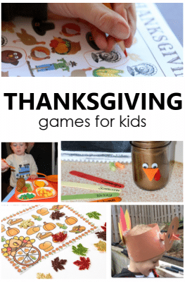 Fun Thanksgiving Games for Kids to play in the classroom or at home