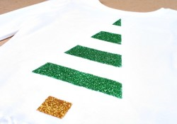 Glitter Christmas Tree Shirt Tutorial