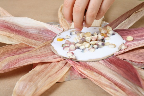 Indian Corn Sunflower Craft