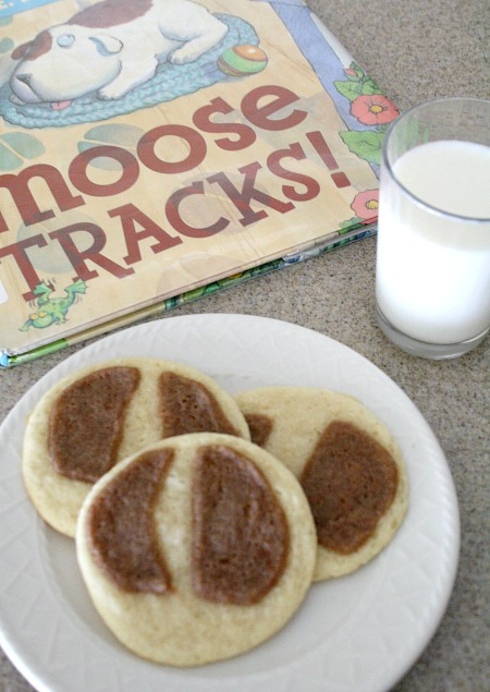Moose Tracks Cookies-Cooking with Kids Book Activity to go along with Karma Wilson's book, Moose Tracks!