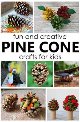 Pine Cone Crafts for Kids. Fun fall craft ideas for kids.
