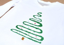 Easy Christmas Tree Shirt for Kids