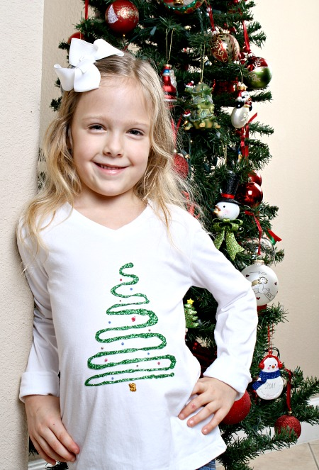 DIY Christmas Shirt for Kids #tulipholidaysparkle