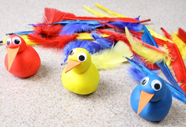 Feather Color Sorting and Fine Motor Activity