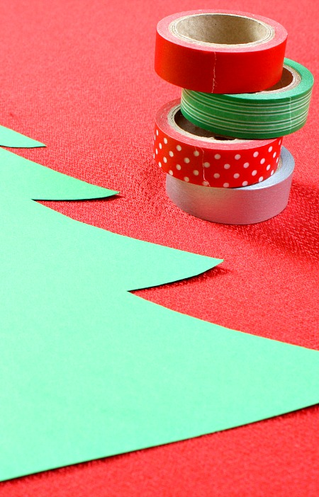 Washi Tape Christmas Tree Craft