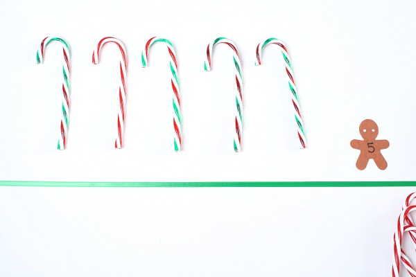 Counting and number recognition with candy canes