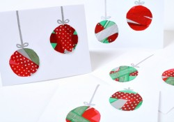 Washi Tape Ornament Christmas Cards