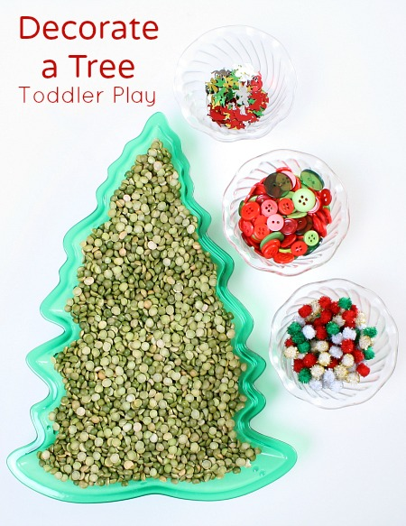 Decorate a Tree Christmas Activity for Toddlers