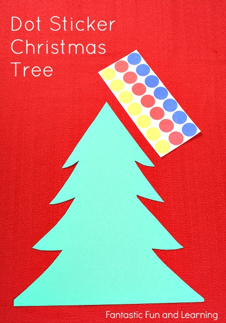 Easy Dot Sticker Christmas Craft for Toddlers and Preschoolers