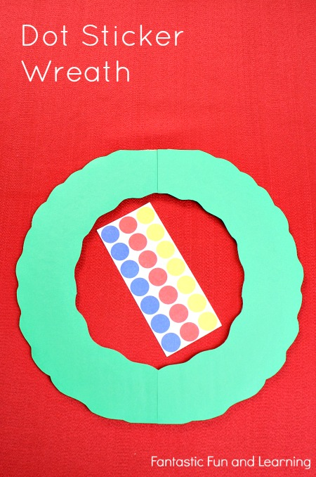 Easy Dot Sticker Christmas Crafts