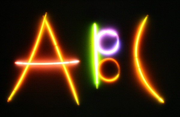 Glow stick ABCs...fun alphabet activity for kids