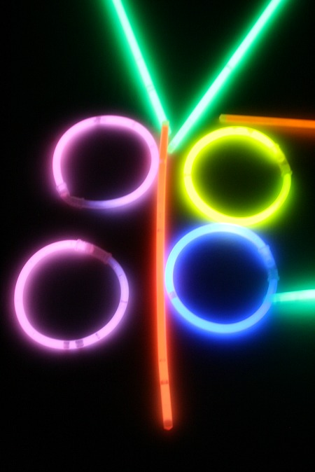 Fun things to do with glow sticks...make pictures