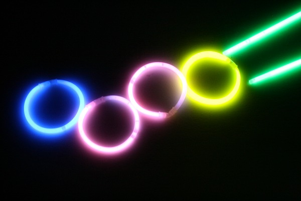 Fun things to do with glow sticks...create art
