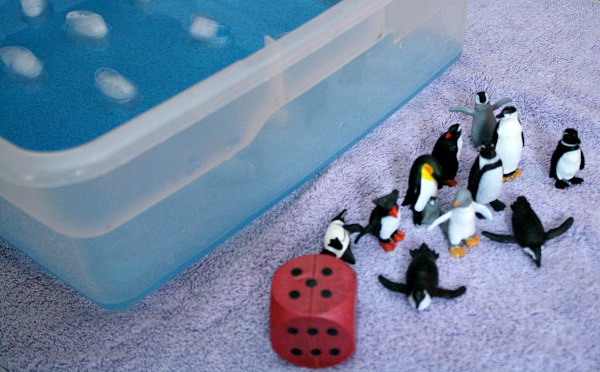 Penguin Hop Counting Game for Toddlers