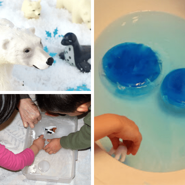 Polar Animals Sensory Bins
