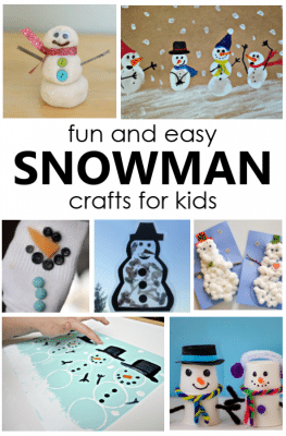 11 Fun and Easy Snowman Crafts for Kids