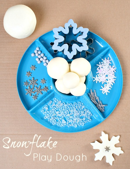 Sparkly Snowflake Winter Play Dough