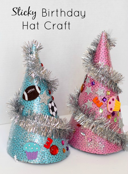 Sticky Birthday Hat Craft...birthday activities for kids