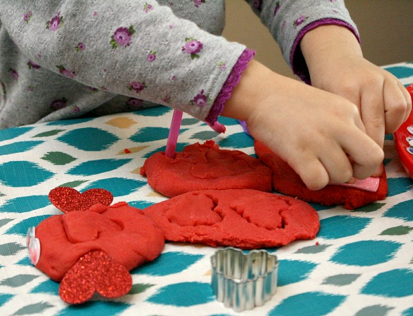 Toddler Valentine Play Dough