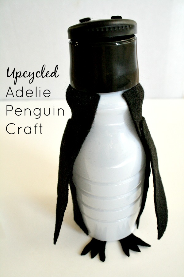 Upcycled Adelie Penguin Craft for Kids Activities