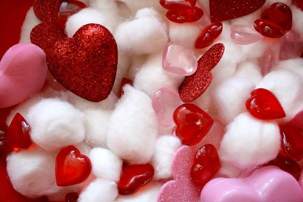 Valentine Sensory Bin Materials