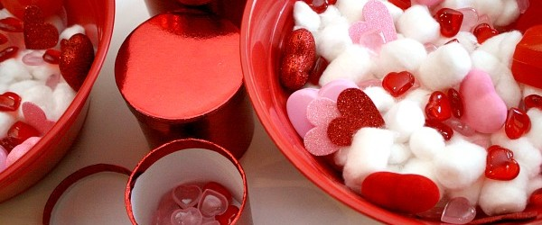 Valentine Sensory Bin for Toddlers