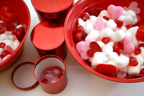 Valentine Sensory Bin for Toddlers