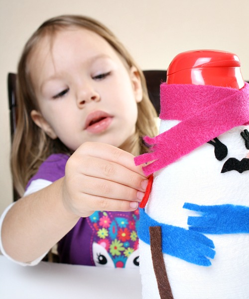 Winter Fine Motor Play for Kids....Snowman Decorating
