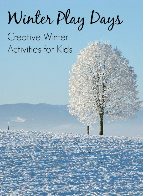 Winter Play Days Series...fun winter activities for toddlers and preschoolers