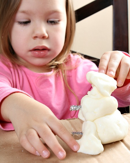 Winter Play Dough Toddler Activity