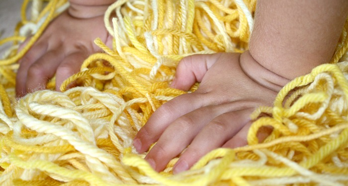 Yellow Yarn Toddler Play