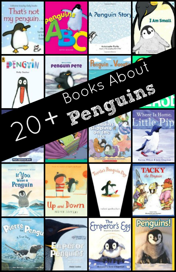 Books About Penguins-Fiction and nonfiction penguin books with free printable book list and penguin facts recording sheet #kindergarten #preschool #winter #freeprintable