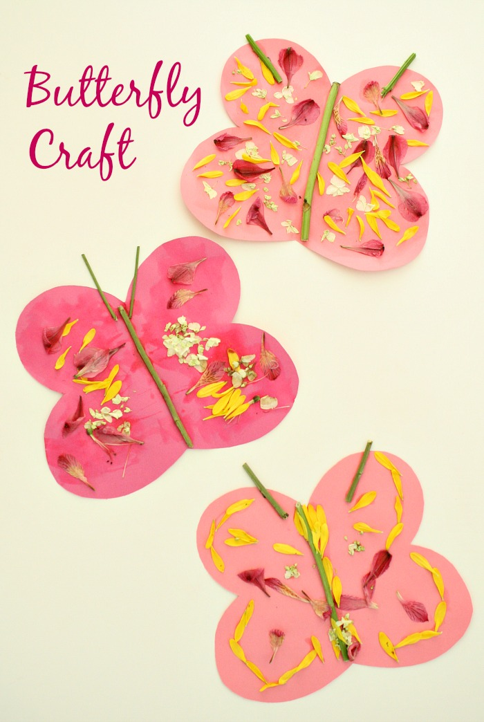 Spring flower butterfly craft fantastic fun learning butterfly craft for kidsspring art with fresh flowers mightylinksfo Choice Image