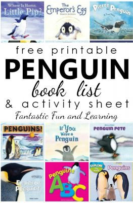 Favorite Penguin Books for Kids-Fiction and Nonfiction Penguin Books with free printable book list and penguin facts recording sheet #preschool #kindergarten #freeprintable #booklist