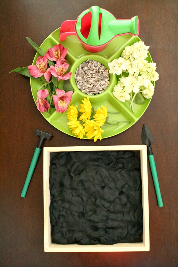 Flower Garden Play Dough Invitation