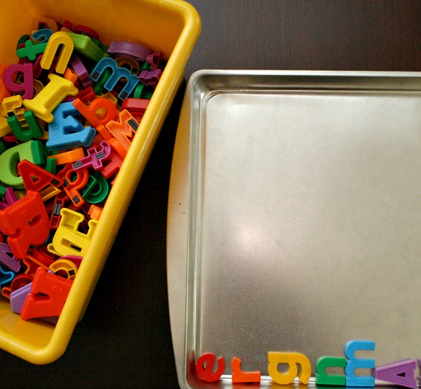 Magnetic Letter Color Sorting Activity