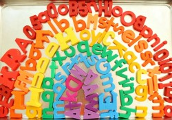 Magnetic Letter Rainbow Color Activity