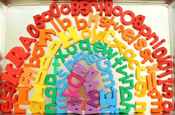 Magnetic Letter Rainbow Color Activity for Kids
