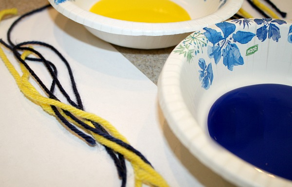 Materials for Painting with Yarn