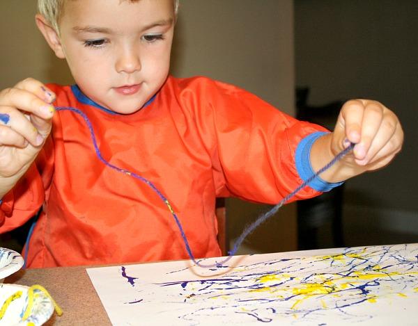 yarn painting preschool - photo #12