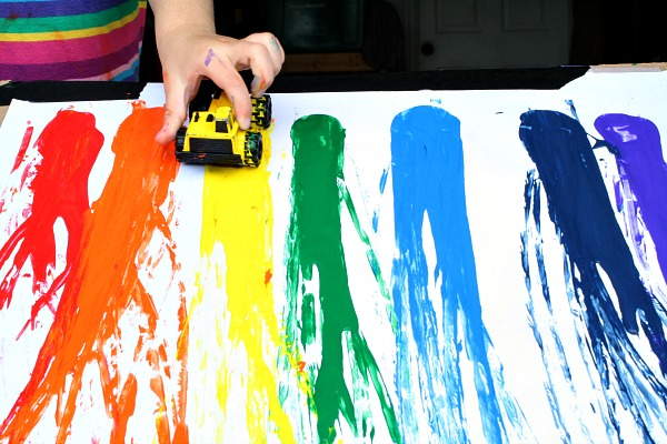 Race Car Rainbow Painting