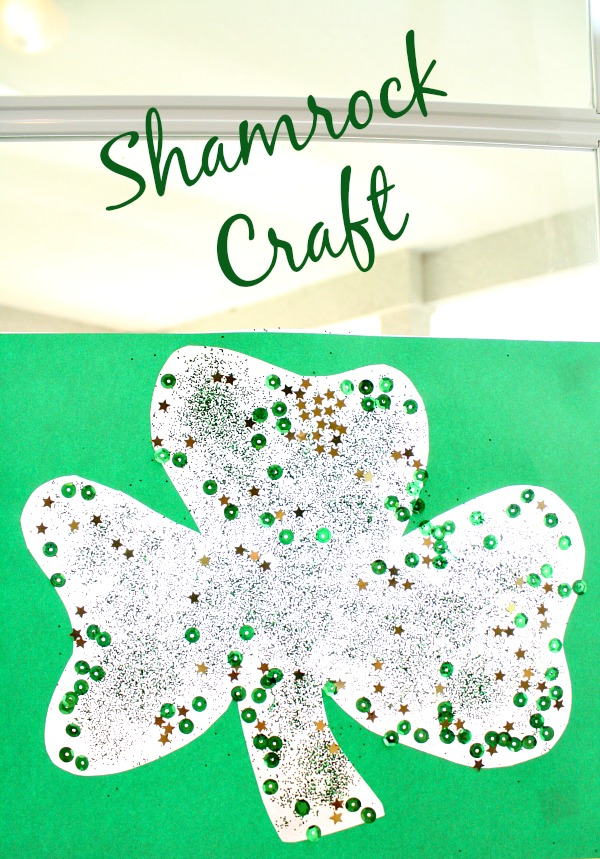 Shamrock Craft ...great for window display. Easy for toddlers!
