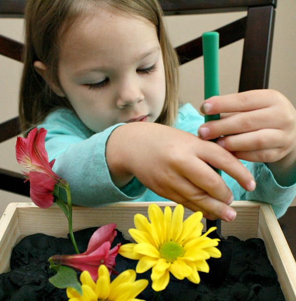 Spring Play Dough for Toddlers