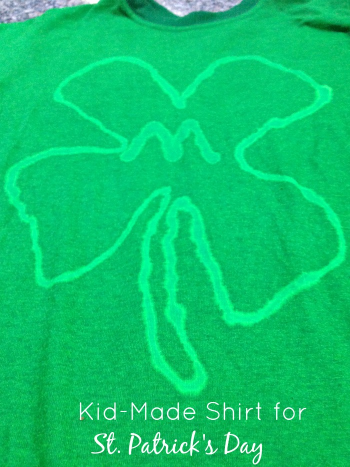 St. Patrick's Day Shirt that kids can make