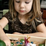 Toddler Play Dough Activity with Fairies