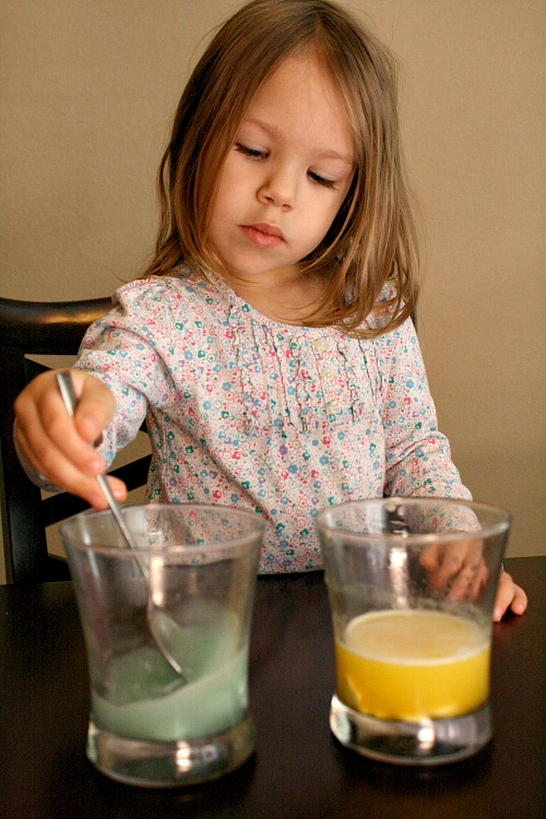 Toddler Science Experiment for Valentines Day