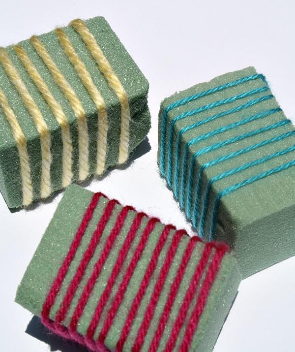 Yarn Blocks for Stamping